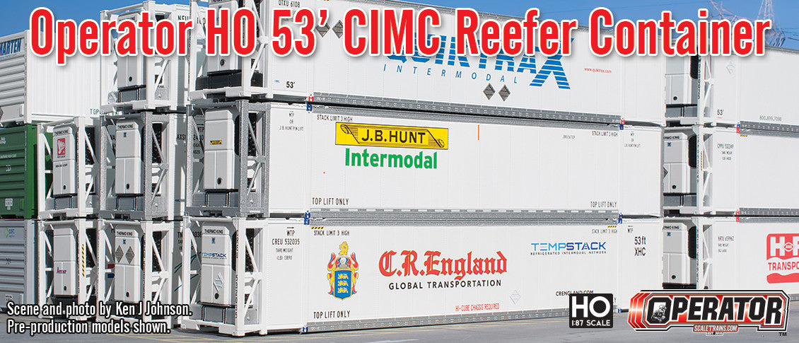 Operator HO Scale 53' CIMC Reefer Container