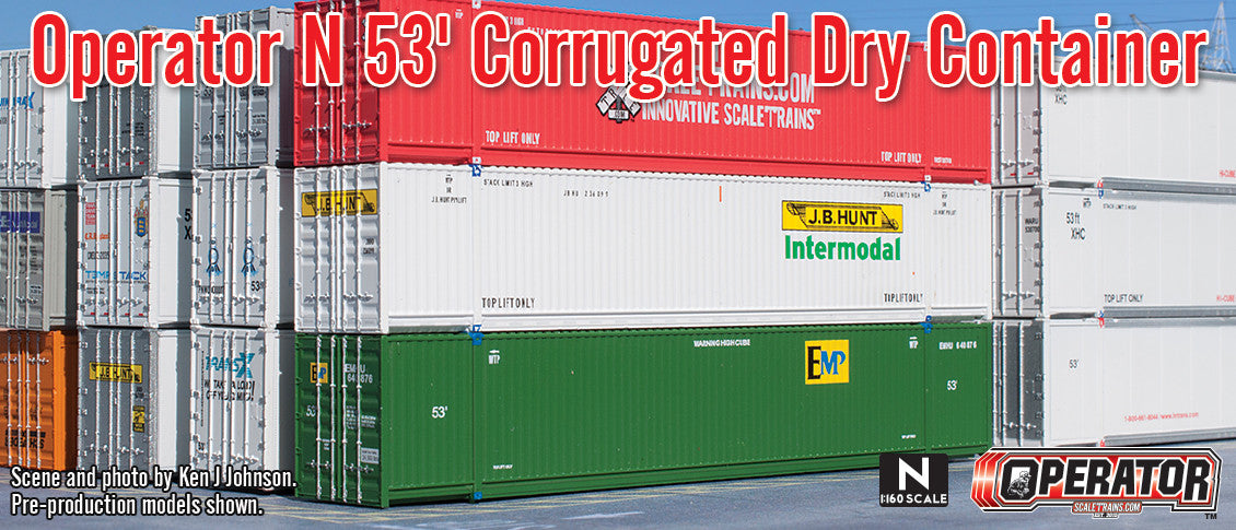 Operator N Scale 53' Corrugated Dry Container