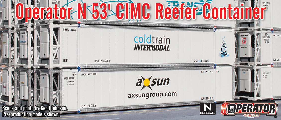 Operator N Scale 53' CIMC Reefer Container