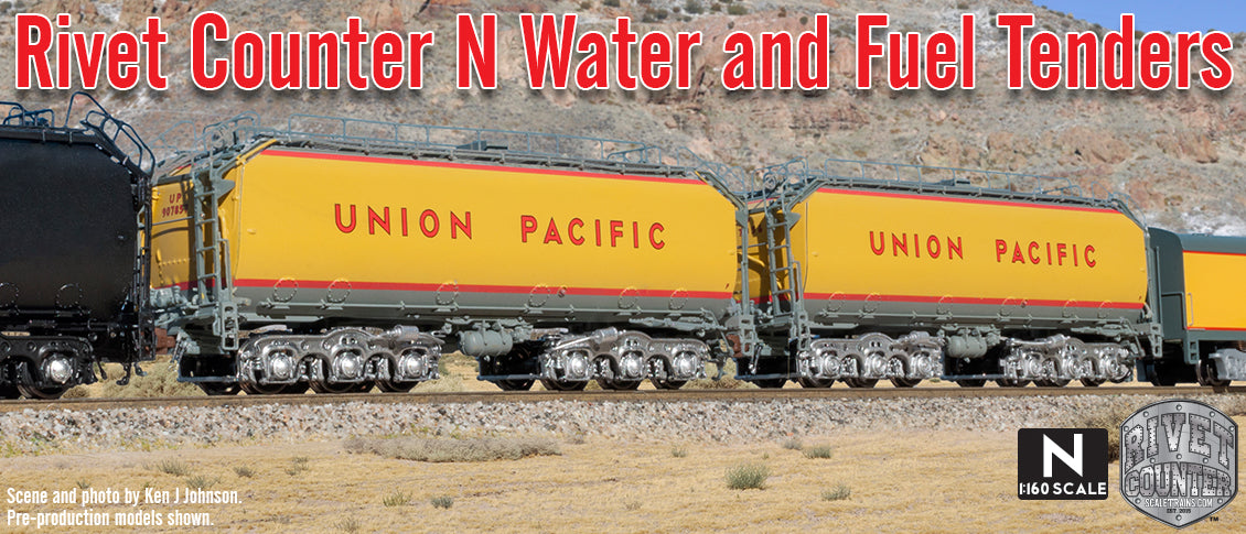 Rivet Counter N Scale UP Water & Fuel Tenders