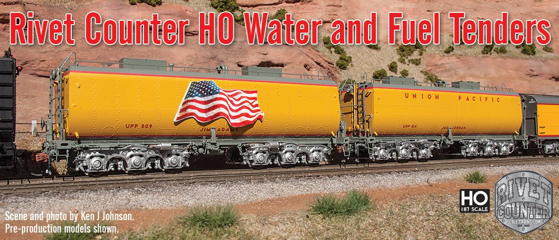 Rivet Counter HO Scale Water and Fuel Tenders