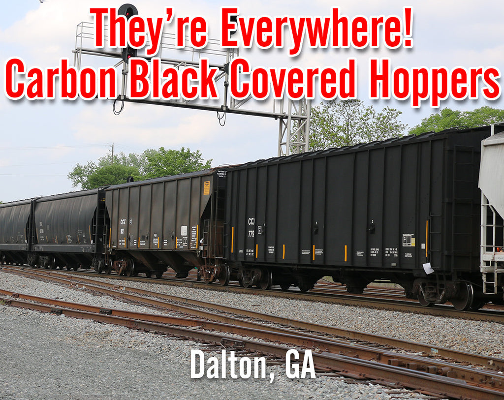 Carbon Black Covered Hoppers - They're Everywhere!