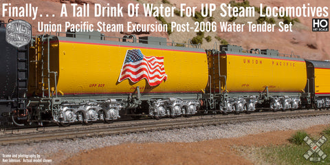 Union Pacific Steam Excursion Post-2006 Water Tender Set