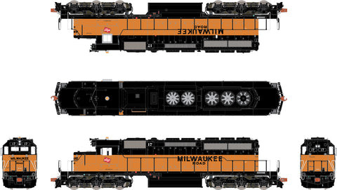 Milwaukee Road SD40-2 Revisions