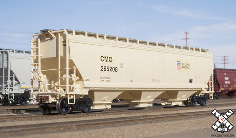 Operator HO Scale Gunderson 5188cf Covered Hopper, CMO/Building America