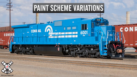 Rivet Counter HO Scale Conrail GE C39-8 Diesel Locomotive