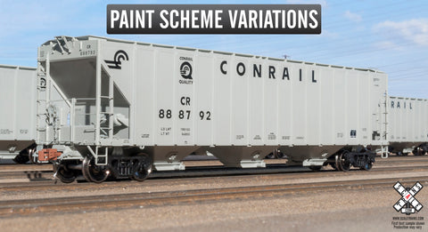 "Rivet Counter HO Scale Pullman-Standard PS-2CD 4785cf Covered Hopper, Conrail ""Quality"" Scheme by ScaleTrains.com"