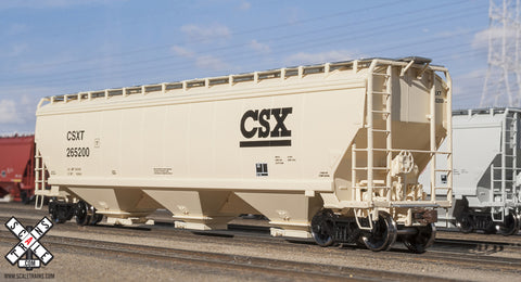 Operator HO Scale Gunderson 5188cf Covered Hopper, CSX
