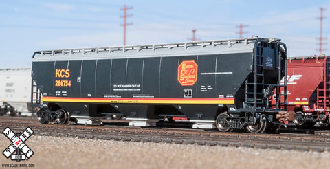 Rivet Counter N Scale Gunderson 5188cf Covered Hopper, Kansas City Southern/Belle