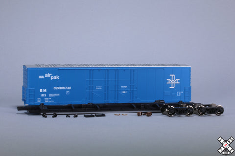 Copy of HO Evans (USRE) 5100 RBL 8' Double-Plug-Door Boxcar, Boston and Maine