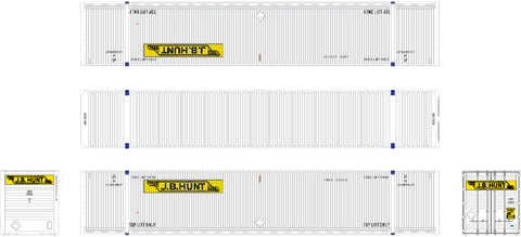 Operator HO Scale CIMC 53' Corrugated Dry Container 3-Pack, JB Hunt