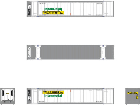 N CIMC 53' Reefer Container 3-Pack, JB Hunt/Intermodal