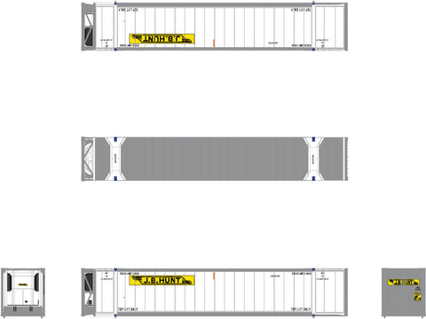 N CIMC 53' Reefer Container 3-Pack, JB Hunt 567000, 567002, 567003