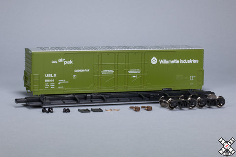 HO Evans (USRE) 5100 RBL 8' Double-Plug-Door Boxcar, Willamette Industries USLX