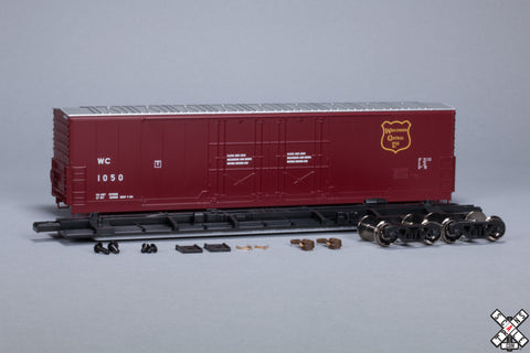 HO Evans (USRE) 5100 RBL 8' Double-Plug-Door Boxcar, Wisconsin Central WC
