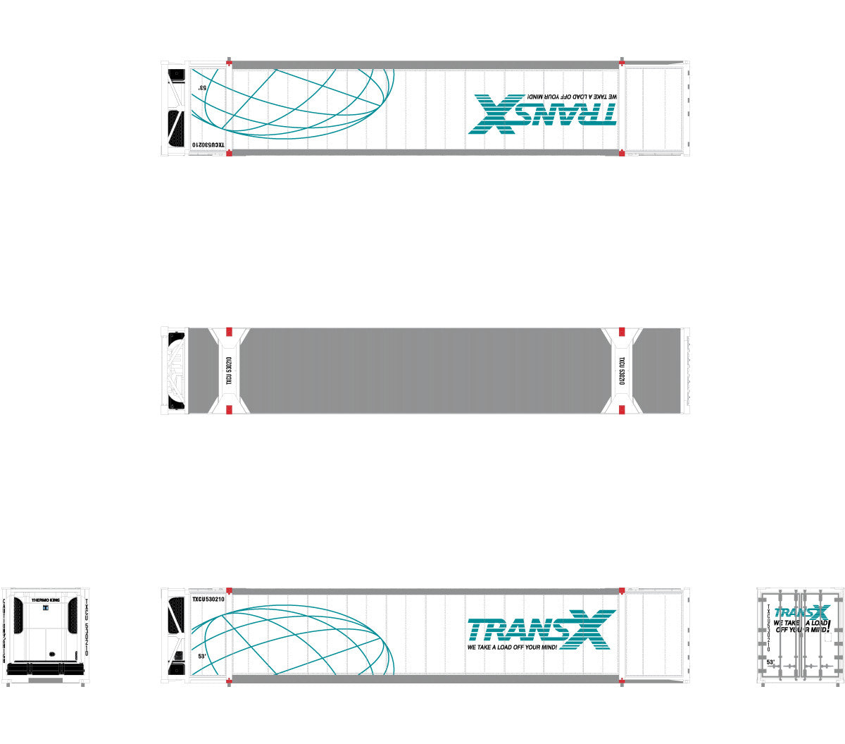 TransX N Scale CIMC 53' Reefer Container by ScaleTrains.com