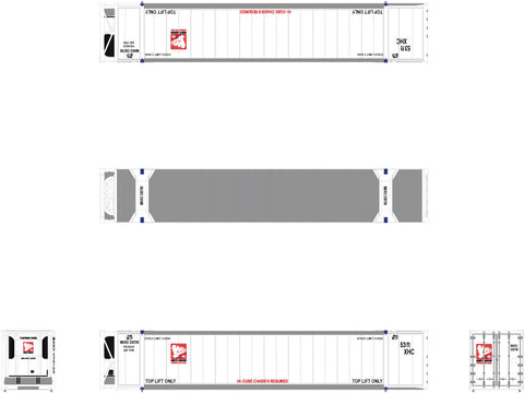 N CIMC 53' Reefer Container, White Arrow with Logo