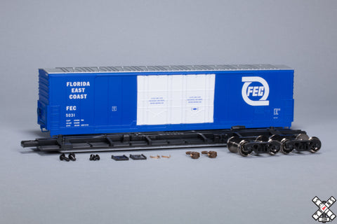 HO Evans (USRE) 5100 RBL 8' Double-Plug-Door Boxcar, Florida East Coast FEC