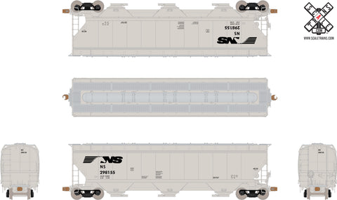Operator HO Scale Gunderson 5188cf Covered Hopper, Norfolk Southern/Horsehead