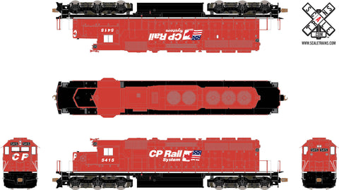 Operator HO Scale EMD SD40-2, CP Rail/Two Flags