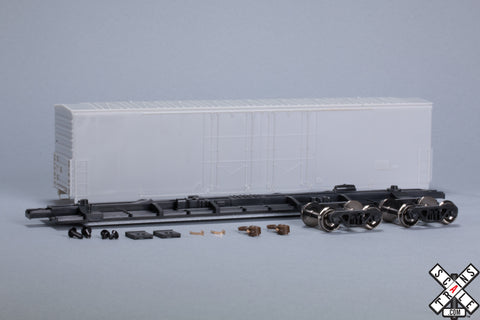 HO Evans (USRE) 5100 RBL 8' Double-Plug-Door Boxcar, Undecorated Undec