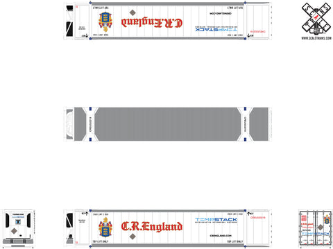 Operator N Scale 53' Dry CIMC Reefer Containers by ScaleTrains.com