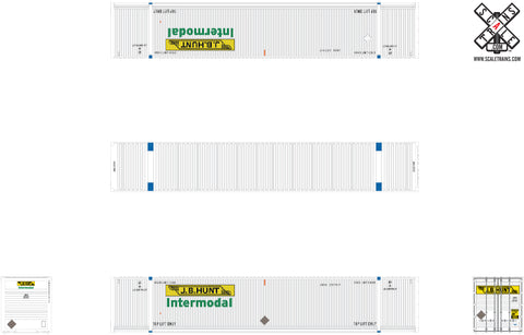 Operator N Scale 53' Dry CIMC Dry Containers by ScaleTrains.com