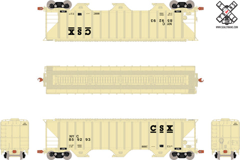 Operator HO Scale Pullman-Standard PS-2CD 4785cf Covered Hopper, CSX Transportation/NYC