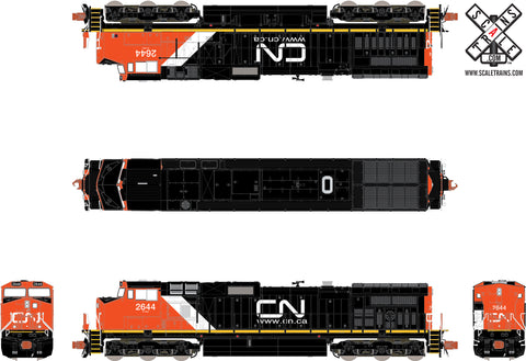 Operator N Scale GE DASH 9-44CW, Canadian National