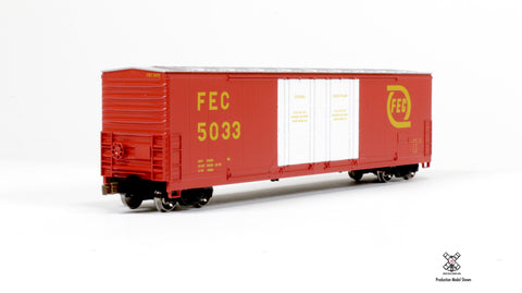 Kit Classics HO Scale Evans 5100 RBL Boxcar, Florida East Coast/Red