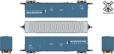 Kit Classics HO Scale Evans 5100 RBL Boxcar, Mountain Pine Lumber