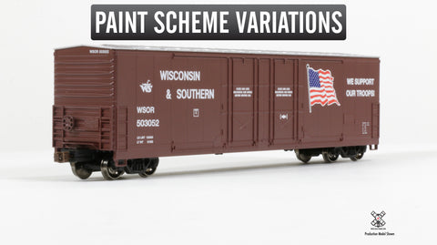 Kit Classics HO Scale Evans 5100 RBL Boxcar, Wisconsin and Southern