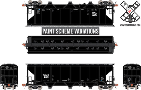 Rivet Counter HO Scale Thrall 4727 Carbon Black Covered Hopper by ScaleTrains.com