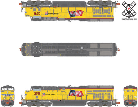 Rivet Counter N Scale Union Pacific/UP Tier 4 GEVo C45AH (ET44) Diesel Locomotive by ScaleTrains.com