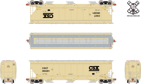 Rivet Counter HO Scale Gunderson 5188cf Covered Hopper, CSX