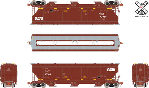 Rivet Counter HO Scale Gunderson 5188cf Covered Hopper, GACX