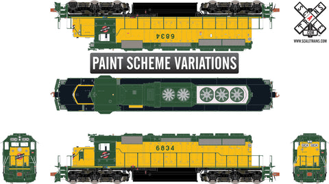 Rivet Counter HO Scale EMD SD40-2, Chicago & North Western/Traditional Yellow