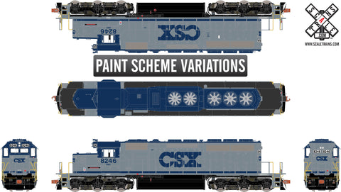 "Rivet Counter HO Scale EMD SD40-2, CSX/""S"""