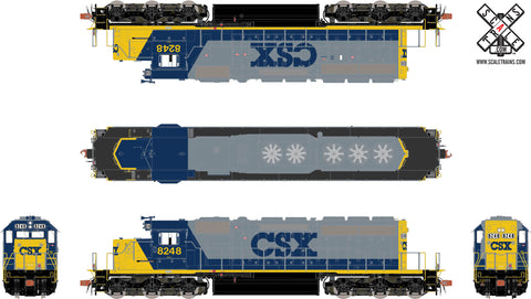 Rivet Counter HO Scale EMD SD40-2, CSX/YN2
