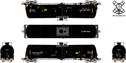Rivet Counter HO Scale TrinityRail 31K Tank Car with Head Shields, Phillips/PPRX/Gasoline