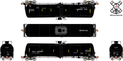Rivet Counter HO Scale TrinityRail 31K Tank Car with Head Shields, Trinity/TILX/Black/Ethanol