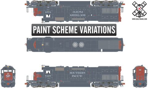"Rivet Counter HO Scale EMD SD40T-2, Southern Pacific/Roman Lettering/""Lobotomized"""