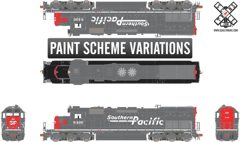 "Rivet Counter HO Scale EMD SD40T-2, Southern Pacific/Speed Lettering/""Lobotomized"""