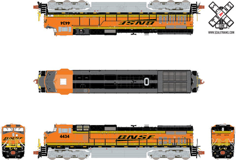 Rivet Counter N Scale GE DASH 9-44CW, BNSF/Heritage III