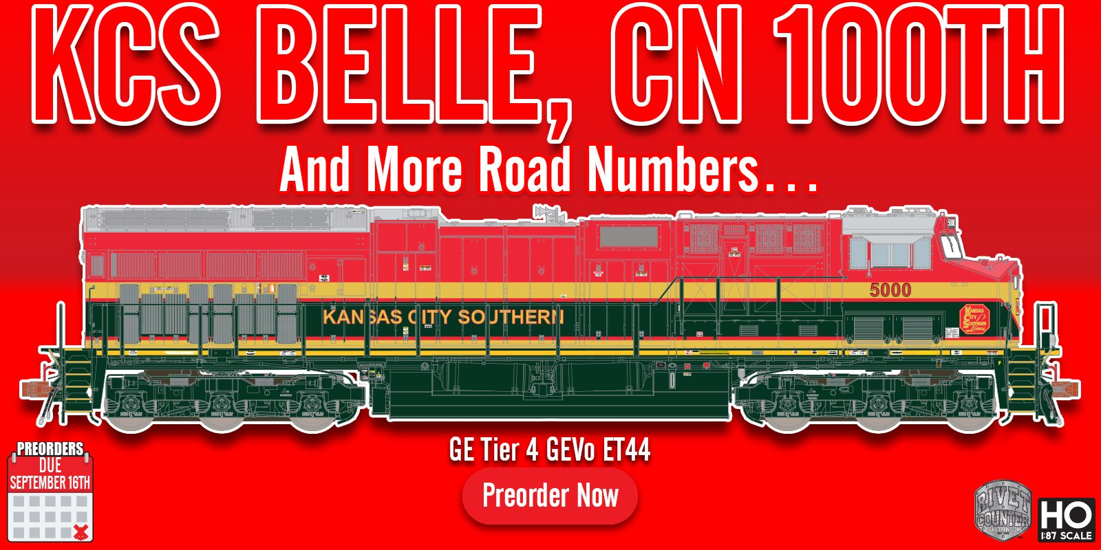 "All-New Model: Rivet Counter HO Scale EMD SD40T-2 ""Tunnel Motor"" Diesel Locomotive by ScaleTrains.com"