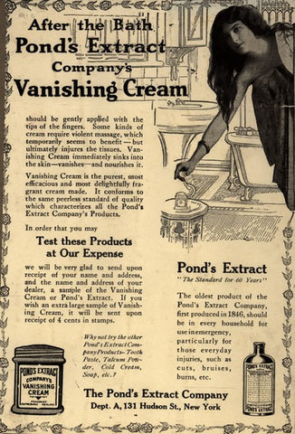 ponds vanishing cream ad from early 1900s