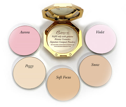 open besame signature compact with 5 powder refills