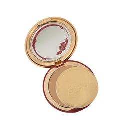 Warm Tan Cashmere Powder Compact