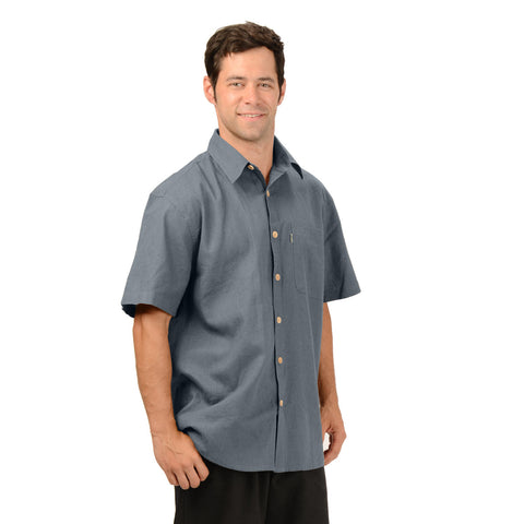 Effort's HempWare - Mens Hemp Short Sleeve Muslin Shirt