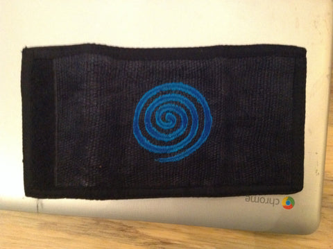 Bi-Fold Wallet Black With Whirlpool Design